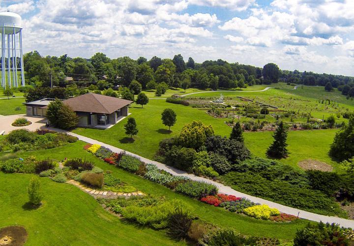 Arboretum aerial view