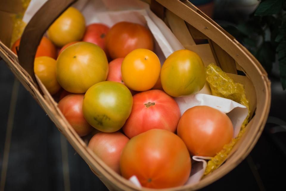 tomatoes in basket